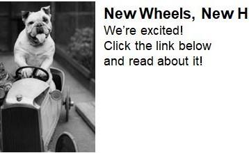New Wheels, New Hope. click here.